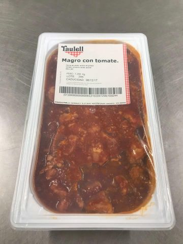 MAGRO CON TOMATE 250 GR.